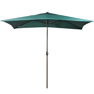 10 Rectangular Market Umbrella Fabric: Dark Green