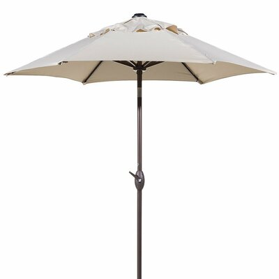7.5 Outdoor Market Umbrella with Push Button Tilt and Crank Lift Fabric: Beige