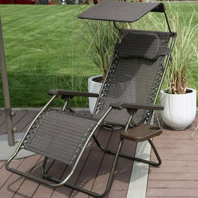 Oversized Zero Gravity Recliner with Sunshade and Drink Tray