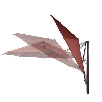 11 Cantilever Umbrella Color: Dark Red