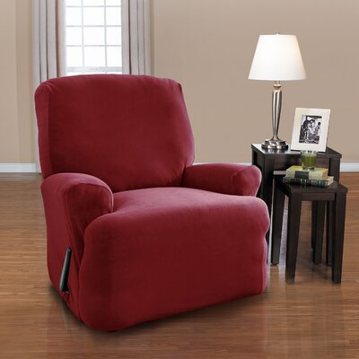 Harper T-Cushion Recliner Slipcover Set Upholstery: Merlot