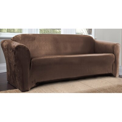 Harper Box Cushion Sofa Slipcover Upholstery: Bark
