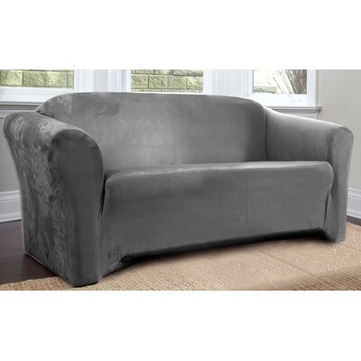 Harper Box Cushion Sofa Slipcover Upholstery: Slate