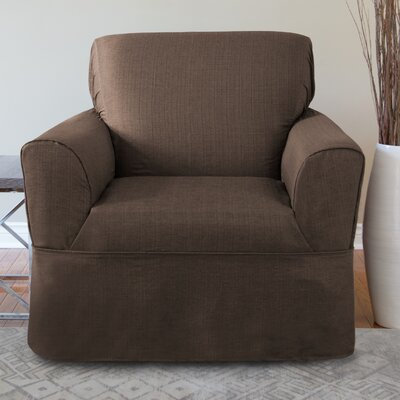 Bayside Armchair Skirted Slipcover Color: Chocolate