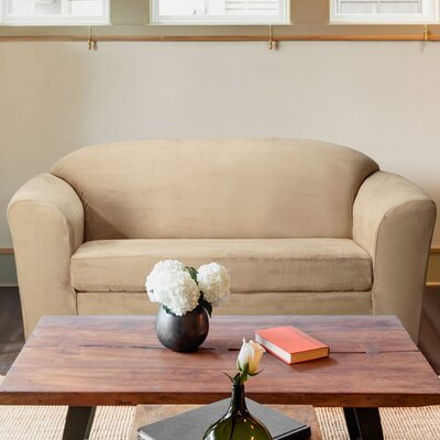 Harper Loveseat T-Cushion Slipcover Color: Taupe