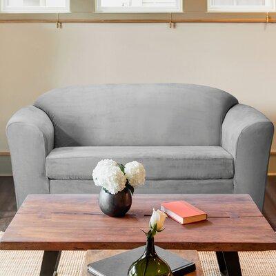 Harper Loveseat T-Cushion Slipcover Color: Gray