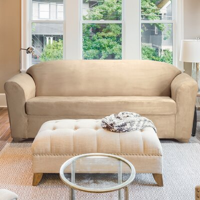 Madison Sofa T-Cushion Slipcover Color: Taupe