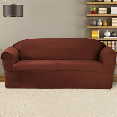 Bayleigh Sofa Cushion Slipcover Color: Red