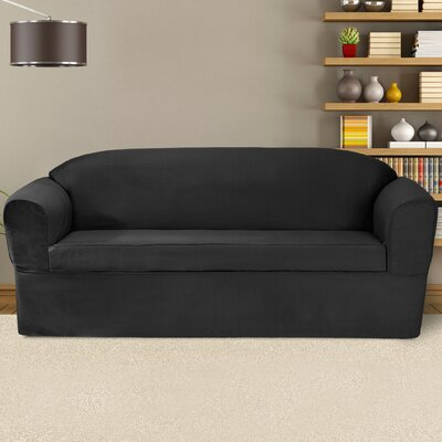 Bayleigh Box Cushion Sofa Slipcover Color: Charcoal