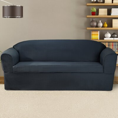 Bayleigh Box Cushion Sofa Slipcover Color: Midnight Blue