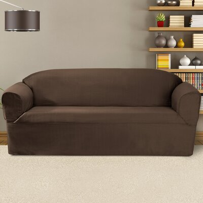 Bayleigh Box Cushion Sofa Slipcover Color: Bark