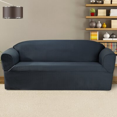 Bayleigh Sofa Slipcover Color: Midnight Blue