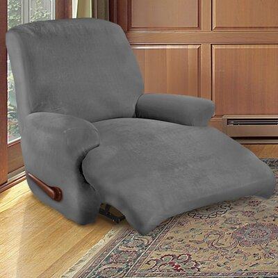 Kensington Recliner Slipcover Upholstery: Slate