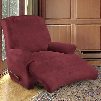 Kensington Recliner Slipcover Upholstery: Merlot