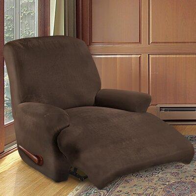 Kensington Recliner Slipcover Upholstery: Chestnut