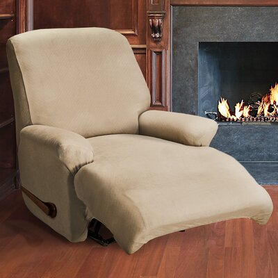 Essex Recliner Slipcover Color: Taupe