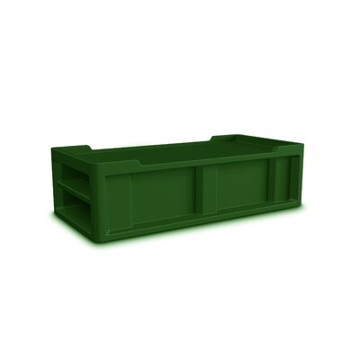 Endurance Extra-Long twin Storage  Platform Bed Color: Green
