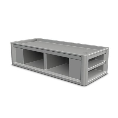 Endurance Platform Bed Upholstery: Blue/Gray