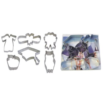 6 Piece Graduation Cookie Cutter Set