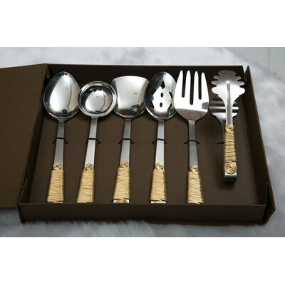 6 Piece Hostess / Serving Set Color: Gold HSR06P1001