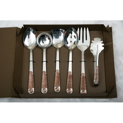 6 Piece Hostess / Serving Set Color: Bronze HSR06P1003