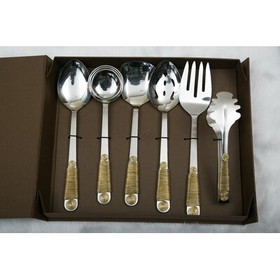 6 Piece Hostess / Serving Set Color: Copper HSR06P1004