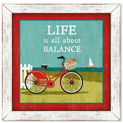 Life is Sweet Life is All About Balance Nantucket Bicycle Framed Painting Print