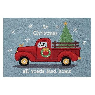 Area Rug Finish: Holiday highway Christmas