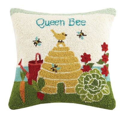 Queen Bee Spring 100% Wool Throw Pillow