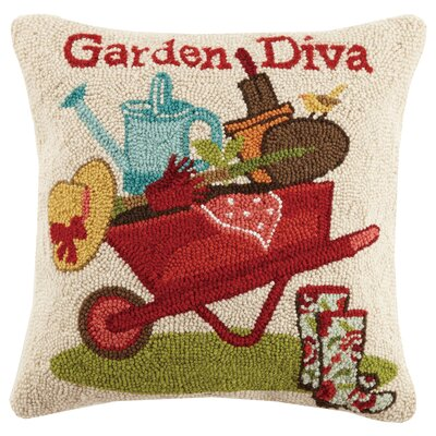 Garden Diva Spring 100% Wool Throw Pillow