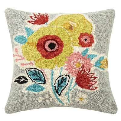 Indian Summer Spring 100% Wool Throw Pillow