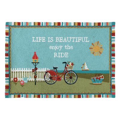 Nantucket Bike Blue/Green Area Rug
