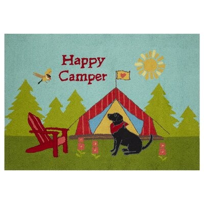 Happy Camper Green/Blue Area Rug