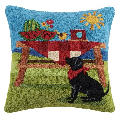 Dog Hook Wool Throw Pillow