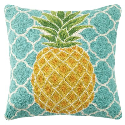 Pineapple Hook Wool Throw Pillow