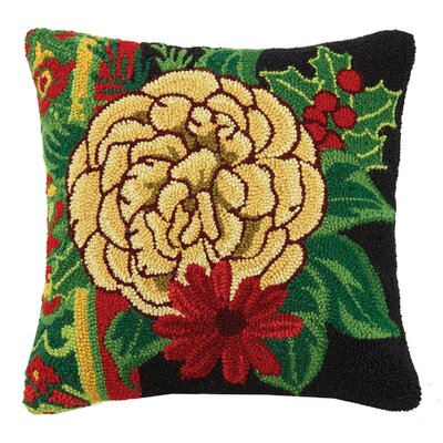 Carnation Hook Wool Throw Pillow