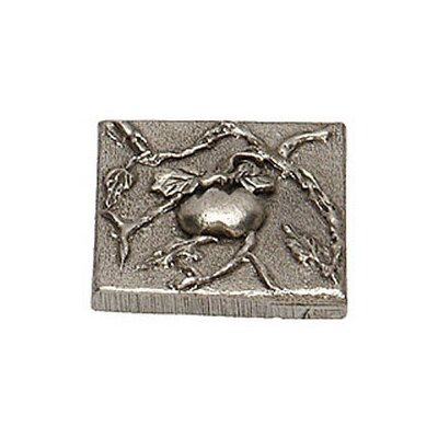 Natures Harvest Tomato 2 x 2 Pewter Hand-Painted Tile in Natural Pewter