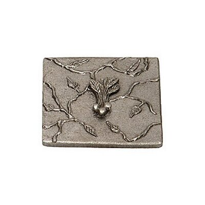 Natures Harvest Beet 4 x 4 Pewter Hand-Painted Tile in Natural Pewter