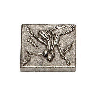Natures Harvest Beet 2 x 2 Pewter Hand-Painted Tile in Natural Pewter