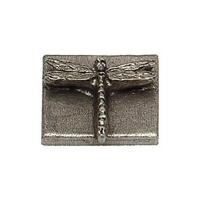 Naturalist Dragon Fly 2 x 2 Pewter Hand-Painted Tile in Natural Pewter