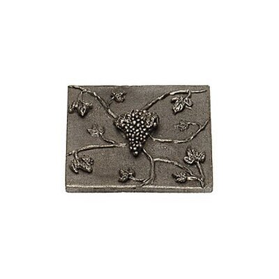Napa Valley Grape 4 x 4 Pewter Hand-Painted Tile in Natural Pewter