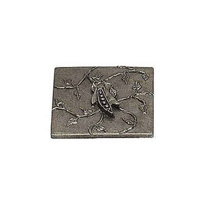 Garden Pea 4 x 4 Pewter Hand-Painted Tile in Natural Pewter