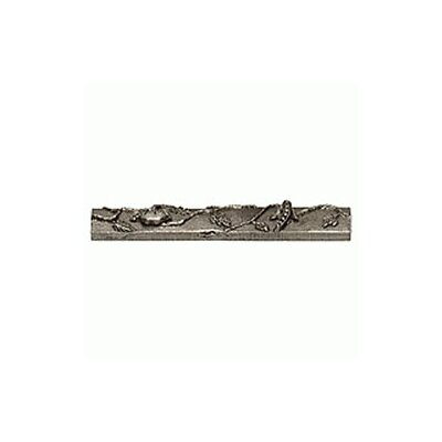 Garden Pea 1 x 6 Pewter Hand-Painted Tile in Natural Pewter