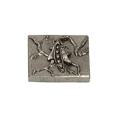 Garden Pea 2 x 2 Pewter Hand-Painted Tile in Natural Pewter