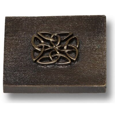 Celtic 2 x 2 Pewter Hand-Painted Tile in Oil Rubbed Bronze