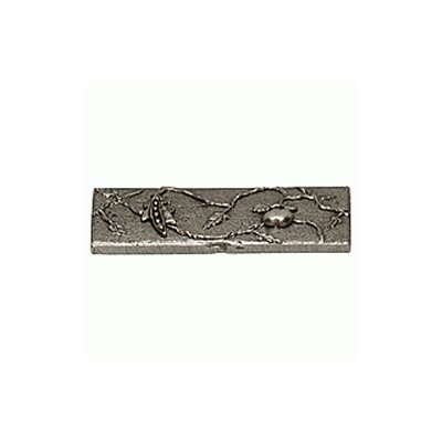 Garden Pea 2 x 6 Pewter Hand-Painted Tile in Natural Pewter