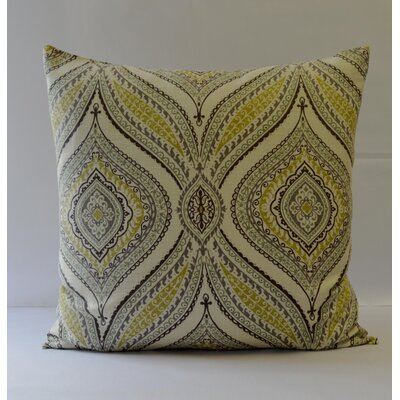 Carnival Throw Pillow Color: Green