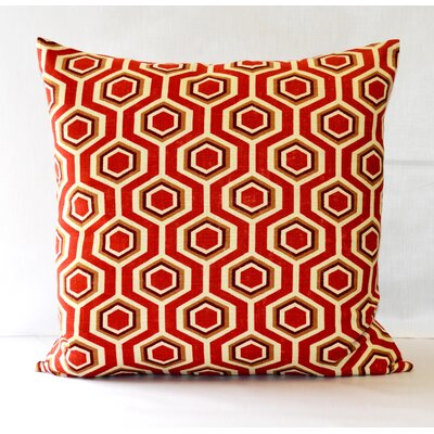 Hexagon Throw Pillow Color: Red