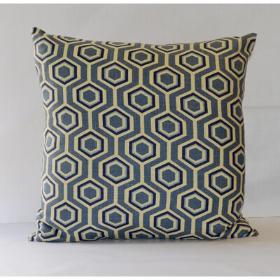 Hexagon Throw Pillow Color: Blue