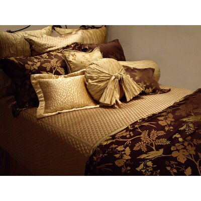 Silk Charmeuse Diamond Coverlet Color: Sueded Gold